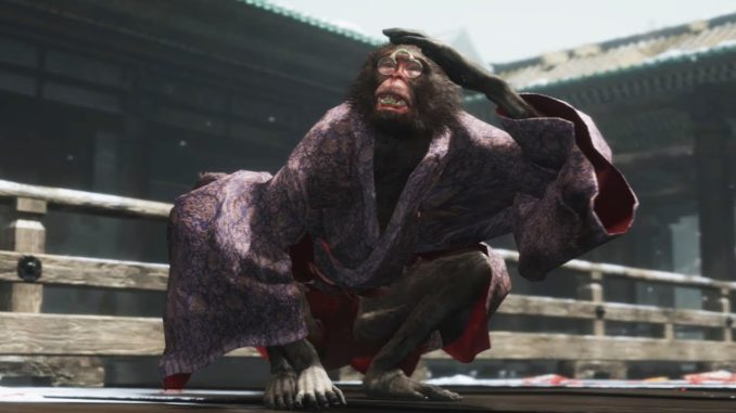 Sekiro Shadows Die Twice Folding Screen Monkeys